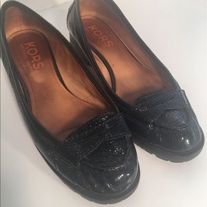 Michael Kors Black Patent Leather Penny Loafers