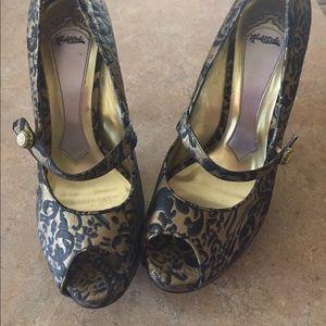 """Hale Bob Shoes - Hale Bob 4"""" open toe pumps"""