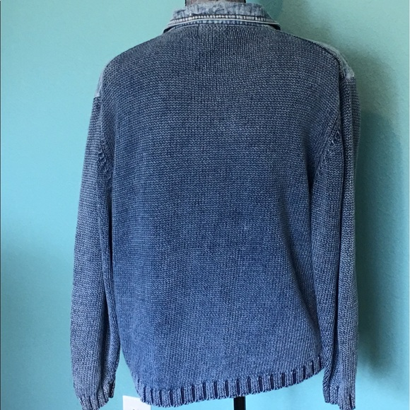 Vintage Jackets & Coats - Vintage Denim Sweater Jacket XL PBJ BLUES