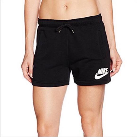 Women's Black Nike Rally Logo Shorts