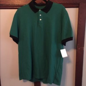 MSGM Other - MSGM Polo in green with black collar and cuff