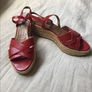 Fratelli Rossetti Shoes - Red leather wedges