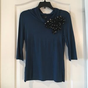New Ann Taylor embellished knit top.