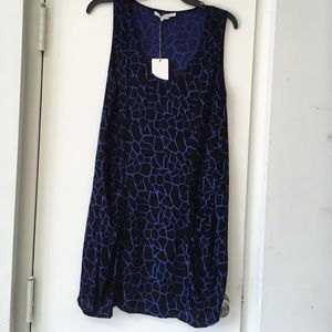 New Bella Luxx SZ M Blue & Black Dress