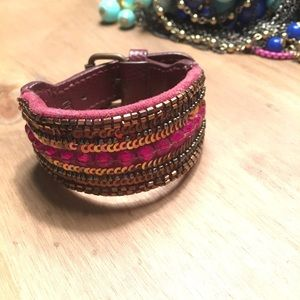 Gap Leather Cuff Bracelet
