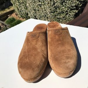 UGG Shoes - Ugg Abbie Brown Suede Clogs 10
