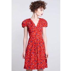 Karen Walker Dresses & Skirts - Anthropologie Hi There Karen Walker Red Dress Sz 2