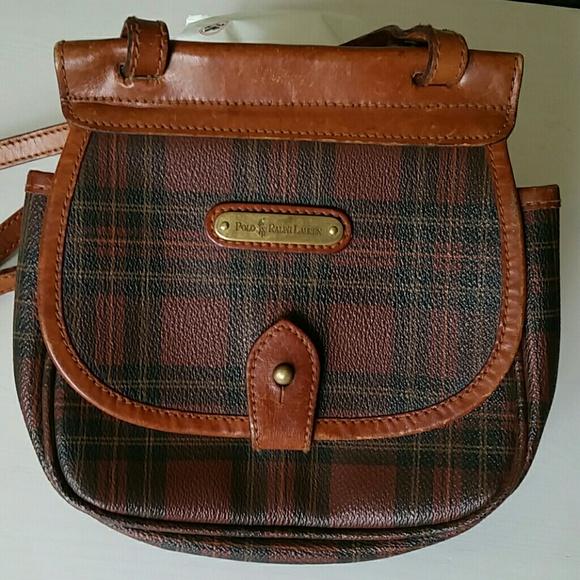 fc7a9c9e8f61 Vintage Polo Ralph Lauren Rare Tartan Plaid Bag. M 594020e1f09282d61b00c969