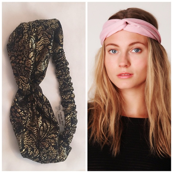Free People Metallic Turban Headband Hair Wrap 47406a39406