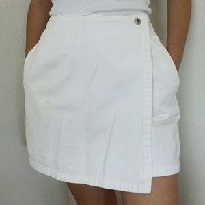 Vintage white denim skort