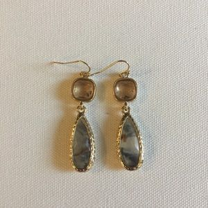 ModCloth Jewelry - Earrings with Marbled Lucite and Gold Accents