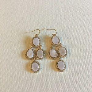 ModCloth Jewelry - Dust Pink & Gold Drop Earrings