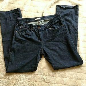 Eileen Fisher dark wash straight leg jeans