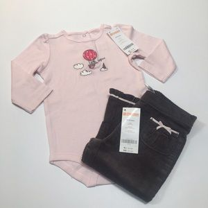 Gymboree Other - NWT sweet pink and gray 🐘 outfit