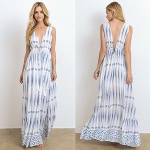 TANYA KARA print maxi dress - OFF WHITE
