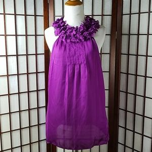 Purple VIOLET & CLAIRE Ruffled Hearts Tunic top