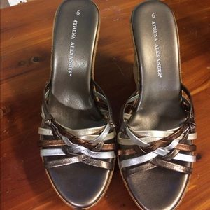 Athena Alexander Shoes - Athena Alexander metallic wedges size 6