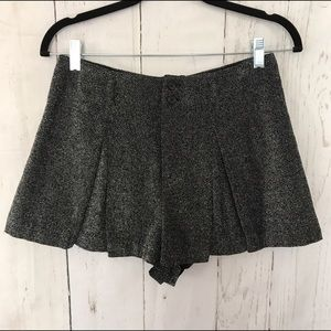 High waisted wool shorts