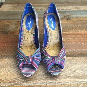 Anne Michelle Shoes - Anne Michelle peep toe pumps