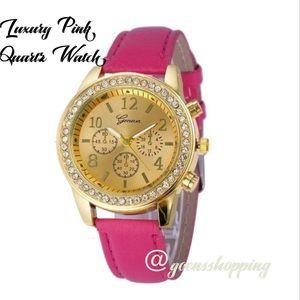 Goensshopping Accessories - Pink GENEVA Quartz Women's Luxury Watch ✨HP✨