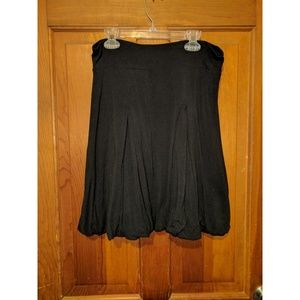 Cute Black Pleated Stretch Skirt, Size Small