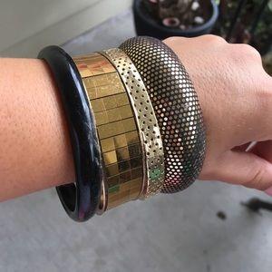 Accessories - Lot of Four Black/Gold Bracelets