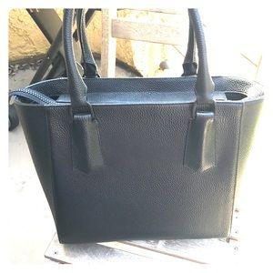 Dagne Dover Handbags - Dagne Dover Mini Tote in Black Oynx Leather