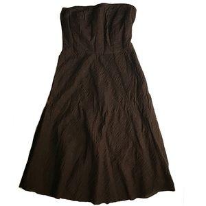 J.Crew 100% Cotton Brown Strapless Dress Size 4