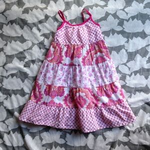 Baby Gap paisley floral pink a line tank dress 4