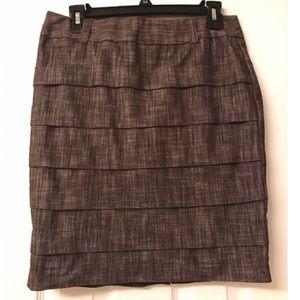 BCX Dresses & Skirts - Like New BCX Brown Pleated Skirt- Size 9