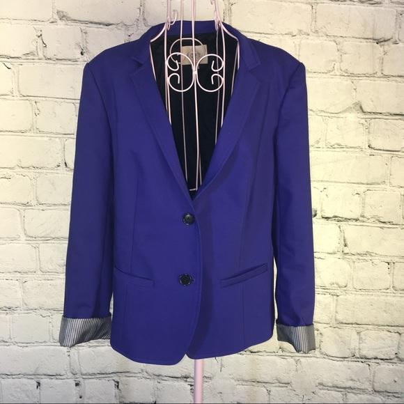 Loft Jackets Amp Blazers Ann Taylor Purple Blazer Sz 12