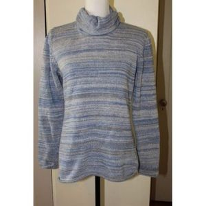 Columbia Sweater Cowl Neck Shades of Blue