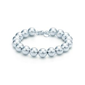 Tiffany and co sterling silver bead bracelet