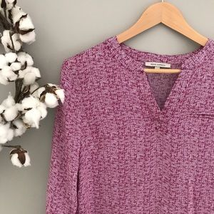 Anne Carson Tops - 🆕 Anne Carson Magenta Front Pocket Rayon Blouse S