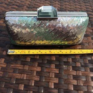Sondra Roberts Handbags - Sondra Roberts Sequined Iridescent Clutch