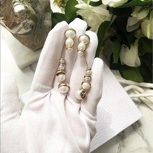 auth Dior Mise de Dior diorama pearl earrings