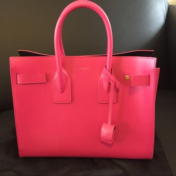 67d3e7ef4b Saint Laurent Bags | Sac De Jour Size Small Fuscia | Poshmark