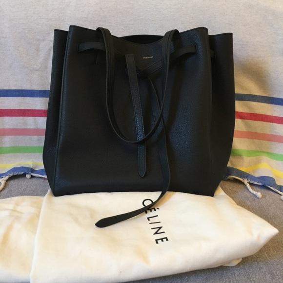 4f6bf409a83d5 Celine Handbags - CELINE Cabas Phantom Grained Medium Black Bag