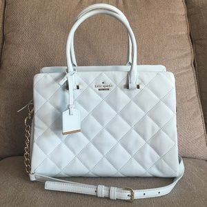 New Kate Spade Quilted Satchel