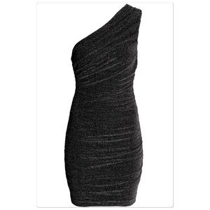 NWT H&M Black One Shoulder Dress Size 4