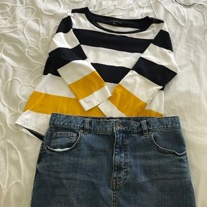 COS 3/4 sleeve knit top