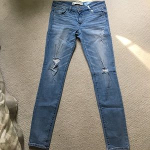 Abercrombie Destroyed Super Skinny Jeans