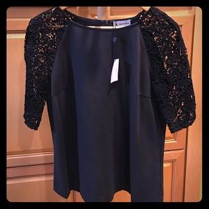 Ava & Aiden Tops - Black Ava & Aiden Top black/ charcoal lace sleeves