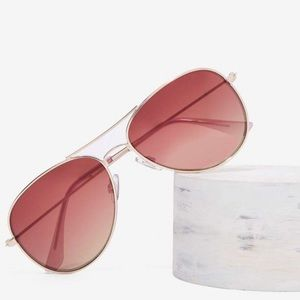 Nasty gal rose pink aviator sun glasses