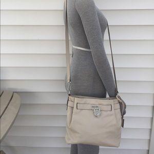 KORS Michael Kors Handbags - Micheal Kors leather vanilla cross body bag nwt