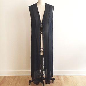 Marina Rinaldi Jackets & Blazers - Navy Sheer swimwear cover or sleeveless jacket!