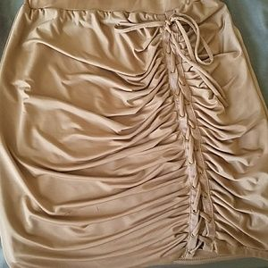 Dresses & Skirts - Mocha colored skirt with side lace up