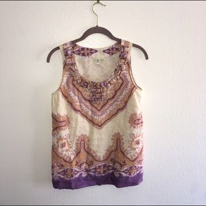 Gorgeous size 2 J. Crew floral beaded tank top
