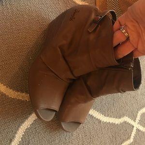 Shoes - Blowfish Peeptoe wedge Bootie