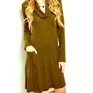 BOHOLOCO FASHION BOUTIQUE Loose Knit Sweater Dress